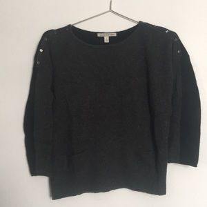 Autumn Cashmere • Two-tone Crop Sweater